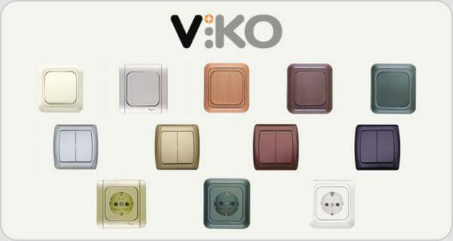Розетки, выключатели viko (серия meridian)