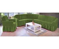 Чехол на угловой диван + кресло DO&CO, Турция.