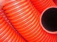 Гофротруба двустенная (двухслойная) подземная 40мм