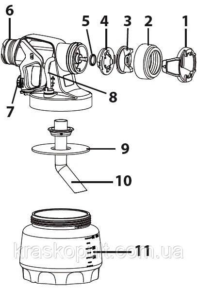 насадка для водоемульсіонка i-spray для электрокраскопульта 565 585 665