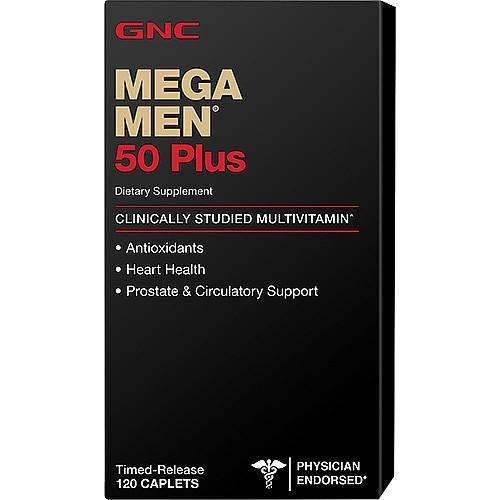 Витамины для мужчин GNC Mega Men 50+ 120 caps