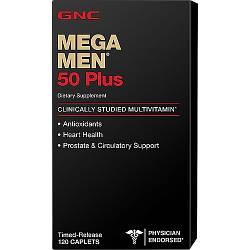 Вітаміни для чоловіків GNC Mega Men 50+ 120 caps