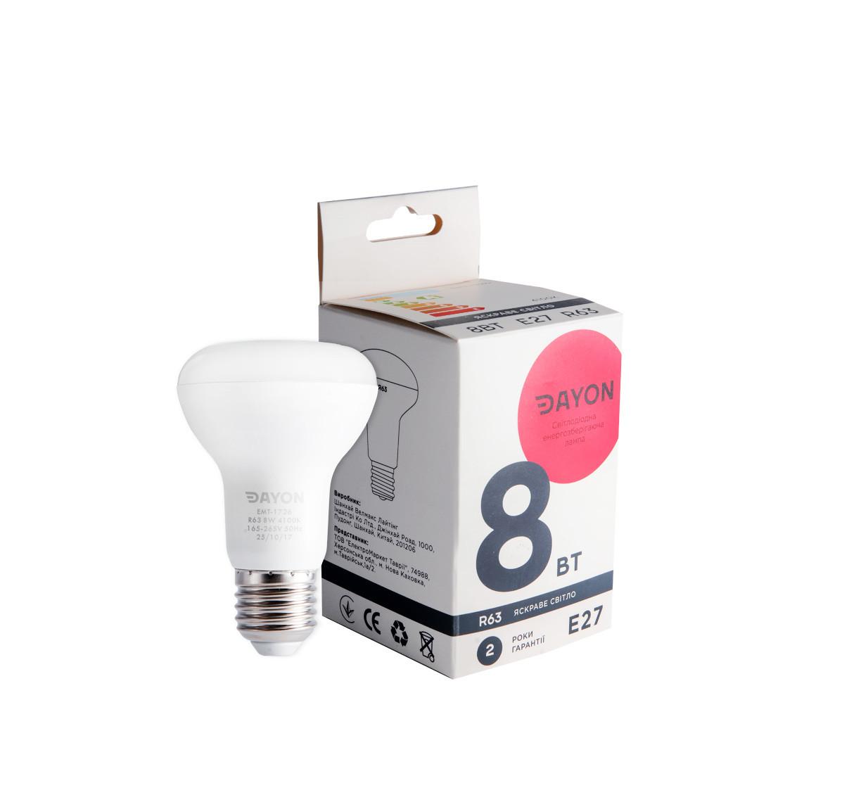 Светодиодная лампа DAYON EMT-1726 R63 8W 4100K E27