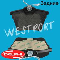 Тормозные колодки Delphi Citroen C5 Peugeot 407 Задние Дисковые Без датчика износа LP1892, фото 1