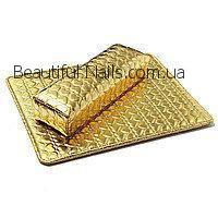 НОВИНКА! Подлокотник для маникюра с ковриком, золотой