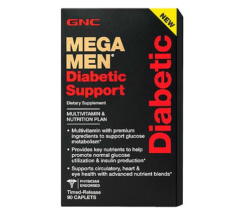 Витамины для мужчин GNC Mega Men Diabetic Support 90 caps
