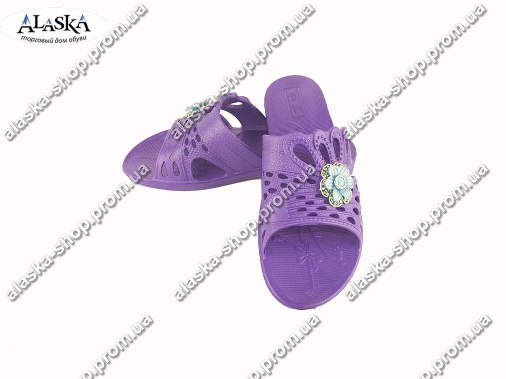 Женские шлепанцы (Код: ПЖ-31 декор фиолет )