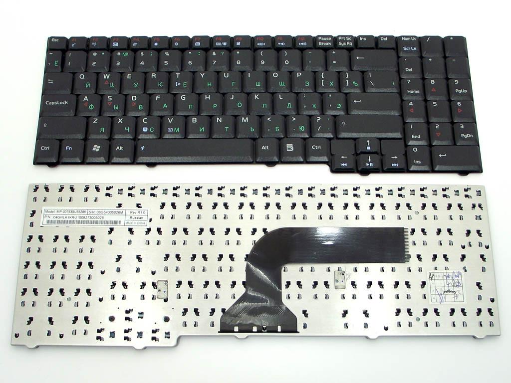 Клавиатура ASUS G50 ( Ru Black без креплений!). MP-03753SU65286 04GNLK