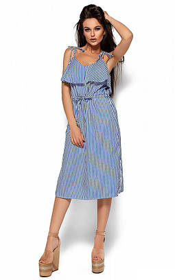 (S, M, L) Повсякденне синє плаття-майка Boho