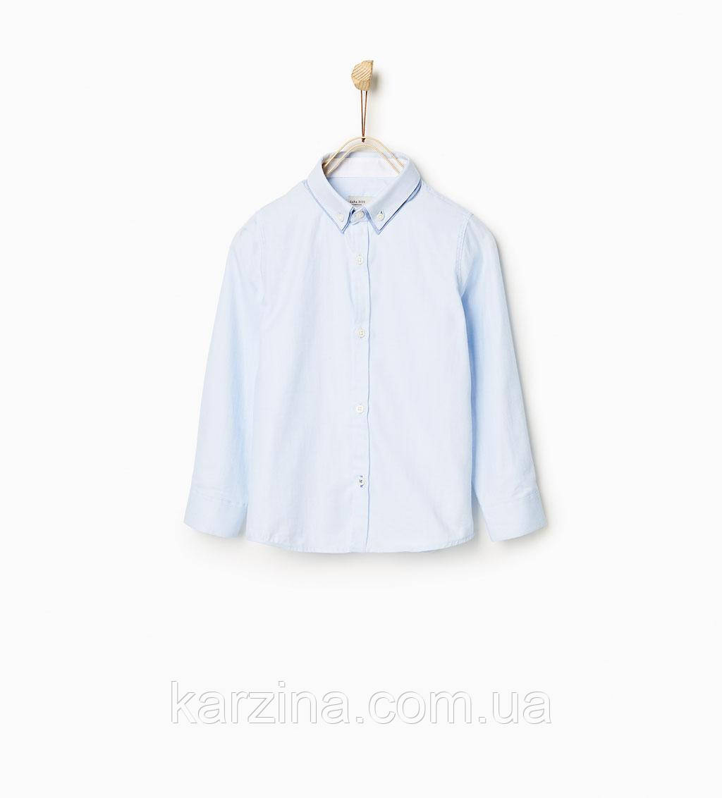 Рубашка голубая ZARA  8лет (128см)