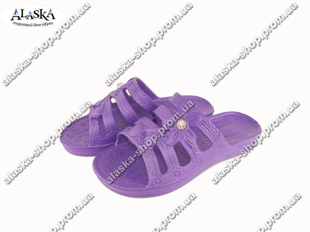 Женские шлепанцы (Код: ПЖ-30 декор фиолет )