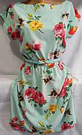 Платье с цветочным принтом/ пчёлами женское (креп-софт)