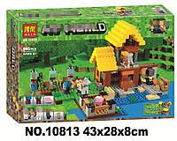 Конструктор Bela 10813 Minecraft Майнкрафт Фермерский коттедж 560 дет, фото 1