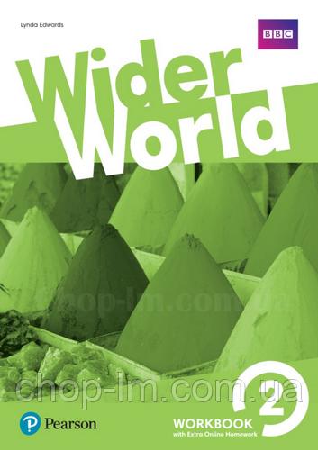 Рабочая тетрадь Wider World 2 WorkBook with Online Homework