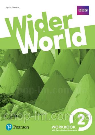 Рабочая тетрадь Wider World 2 WorkBook with Online Homework, фото 2