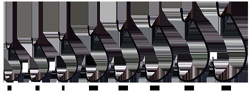 Крючки Origin офсет B-91BC №1/0 (100шт)