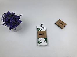 Носки HUF Plantilife белые (зеленый лист)