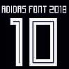Нанесение номера и фамилии Adidas font 2018