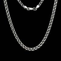 Цепь серебряная, бисмарк, чернение, 14,5 грамм, 550 мм