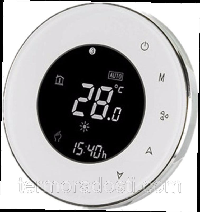 Круглый сенсорный терморегулятор для теплого пола Heat Plus ВНТ-5000 sensor