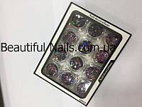 Набор для дизайна ногтей фигурки(цветные),12 шт в упаковке, фото 1