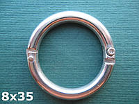 Нержавеющее разъемное кольцо с фиксирующим винтом, 8 мм