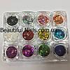 Набор для дизайна ногтей звездочки(цветные),12 шт в упаковке