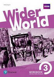 Рабочая тетрадь Wider World 3 WorkBook with Online Homework