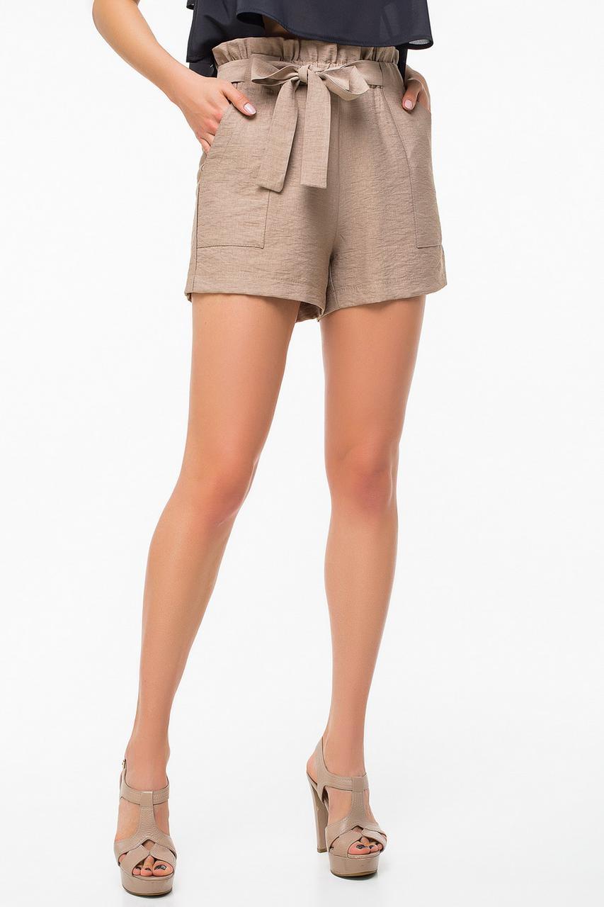 2e12b340caa2 Шорты женские 4016, бежевые шорты, короткие шорты, классические шорты,  дропшиппинг, ...