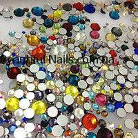 Cтразы MIX - разные размеры, цветные 1440 шт, фото 1