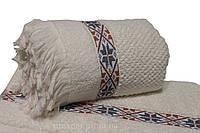 Махровые полотенца с бахромой 70х140 см