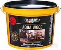Лак мебельный,глянцевый Kompozit Aqua Wood 0.75л (Композит Аква Вуд)