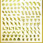 Наклейки для Ногтей 3D Hologram (Махаон) Самоклеющиеся Литые, Большая Пластина, Angevi №06 Золото, фото 4