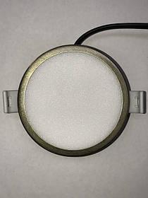 Светодиодная панель SLIM RIGHT HAUSEN HN-234017 6W 4000K круглый античное золото Код.59317