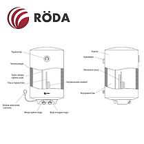 Бойлер «Roda» Aqua White 50 V (водонагреватель на 50 литров), фото 2