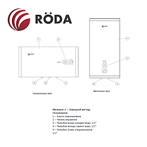 Бойлер Roda Aqua Inox 30 VM (водонагреватель на 30 литров), фото 3