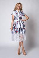 Летнее платье-рубашка в модный принт