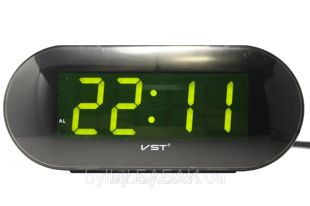 Часы электрические  VST-717 зеленые