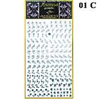 Наклейки для Ногтей 3D Hologram (Махаон) Самоклеющиеся Литые, Большая Пластина, Angevi №01 Серебро, фото 2
