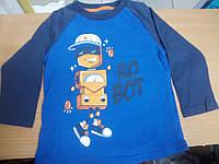 Детская футболка с длинным рукавом Реглан Джемпер Водолазка робот Глория Джинс 6-12 мес.