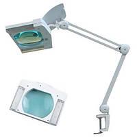 Лампа светодиодная с лупой ZD-8609L LED белая