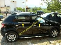 Renault Sandero 2013 Окантовка стекол OmsaLine