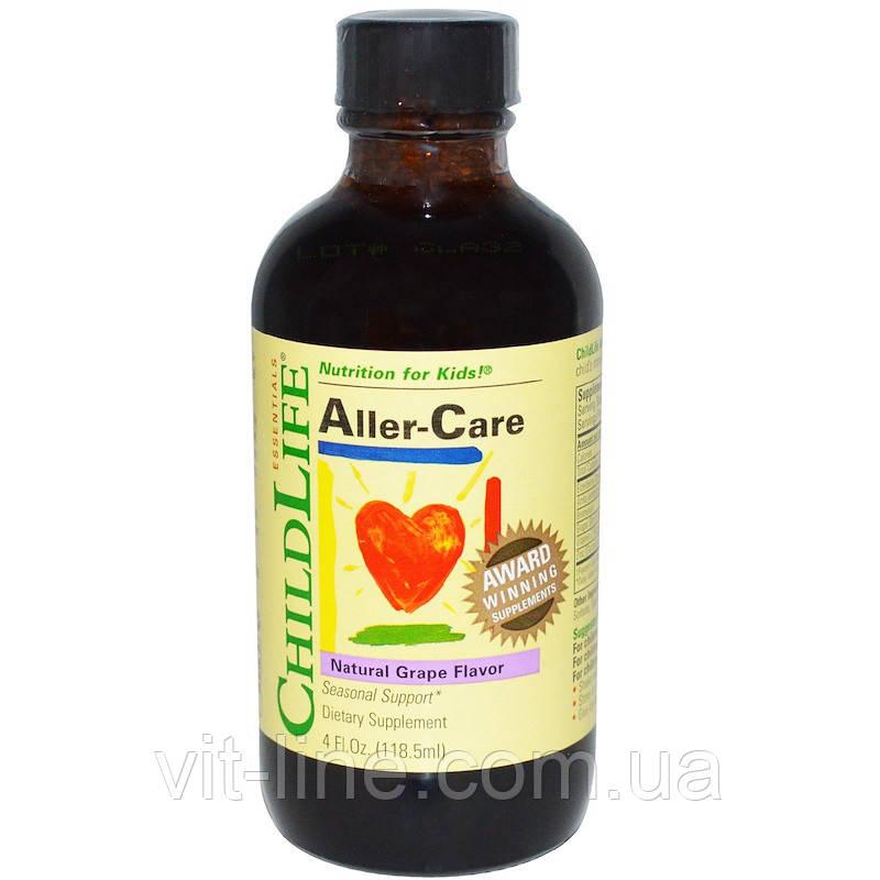 ChildLife, Essentials, Средство от аллергии, натуральный виноградный вкус