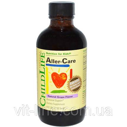 ChildLife, Essentials, Средство от аллергии, натуральный виноградный вкус, фото 2