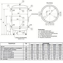 Буферная емкость «Roda» RBB-800, фото 3