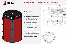 Буферная емкость «Roda» RBTS-1500 (с верхним змеевиком), фото 2