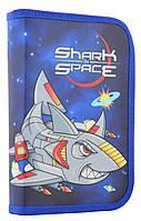 Пенал твердый одинарный с двумя клапанами Shark space