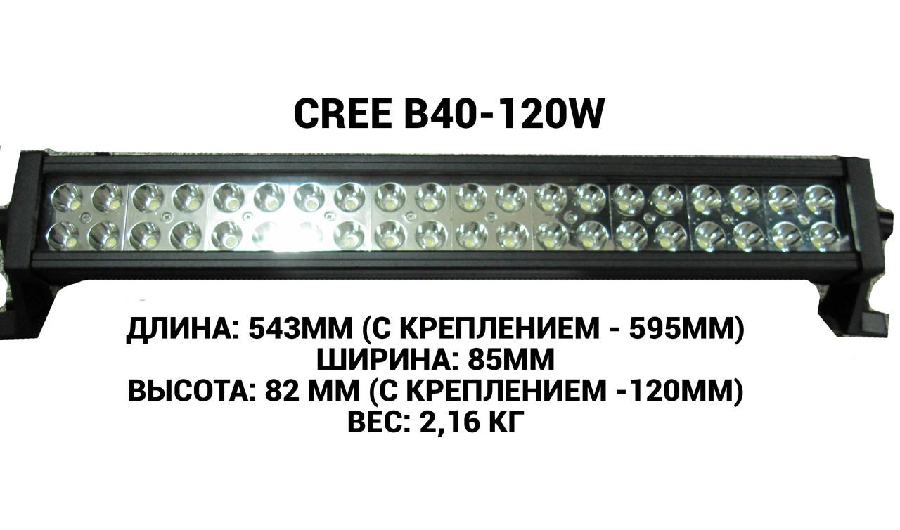 Светодиодная балка (фара) CREE B40-120W