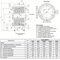 Буферная емкость «Roda» RBDS-1000 (с верхним и нижним змеевиками), фото 3