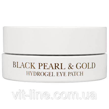 Petitfee, Патчі під очі Black Pearl & Gold Hydrogel Eye Patch, 60 штук, фото 2